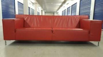 Rode Leren Design Bank.Z G A N Rode Leren 3 Zits Top Design Bank Bezorgen Mogelijk
