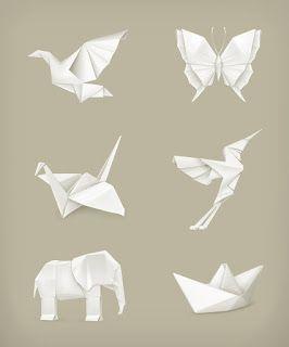 صور مطويات 2021 اشكال مطويات بالورق الملون Origami Set Origami Animals Animal Icon
