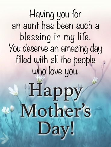 Such A Blessing Happy Mother S Day Card For Aunt Birthday Greeting Cards By Davia Happy Mother S Day Aunt Happy Mother Day Quotes Happy Mothers Day Wishes