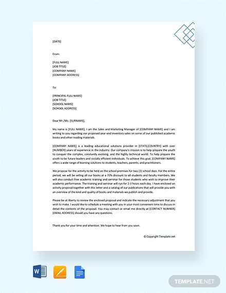 Formal Proposal Letter To School Principal Template Free Pdf Google Docs Word Template Net Proposal Letter Formal Letter Template Formal Letter What is a proposal letter