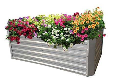 Gabiona Hochbeet Fur Balkon I Pflanzkubel Fur Hochbeet Krauter Fruhbeet Gemuse Hochbeeti 184 X 60 X 90 Cm Pflanzku Blumenkasten Bepflanzen Pflanzen Hochbeet