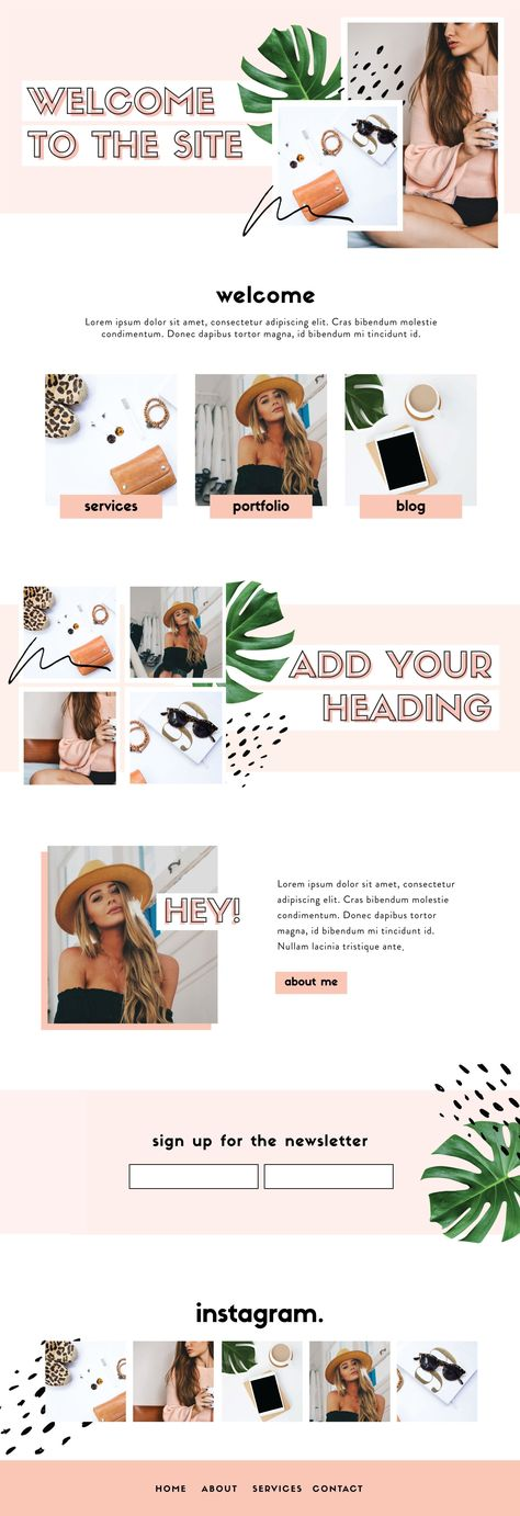 VERGE - Website Design Kit by Big Cat Creative available on Creative Market now   Website Template   Web Design Template   Blog Template   Squarespace Template   Wordpress Template   Wix Template   Website Graphics   Web Design Graphics   Wordpress Graphics   Website Banner Template