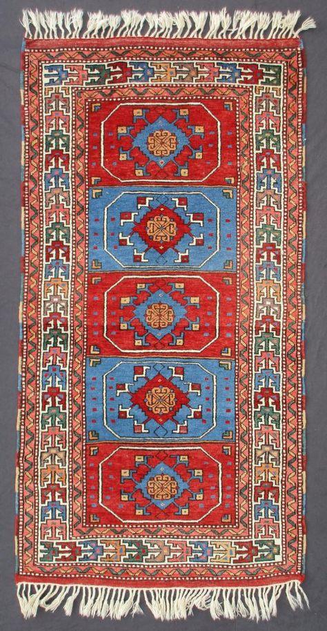 Dobag Long Rug Yuntdag Turkey 1980s 203 X 103 Cm 6 8 X 3 5 I Christopher Angela Legge Oriental Carpets Oxford Mit Bildern