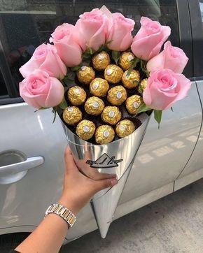 Fererro Rocher Chocolate Flower Bouquet Gift Ideas Food Candy Romantic Anniversary Valentine Bouquet Christmas Gift Baskets Diy Flowers Bouquet Gift