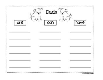Father's Day Can Have Are Tree Map Freebie- from First Grade Blue Skies. I love these things!