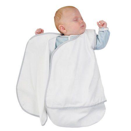 Candide Luxury White Cotton Lightweight Baby Wrap Beige Wearable