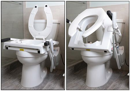Tilt Incline Toilet Lift Up And Down Positions Toilet