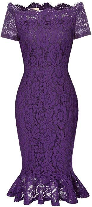 Women Full Lace Bodycon Cocktail Wedding Guest Dress M