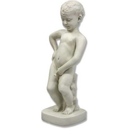 Question pond statue of boy peeing