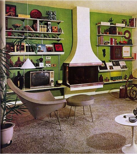 Vintage and retro interior design are such an interesting study. The trends of seventies were so unique. Elements like Panton chairs, shag.