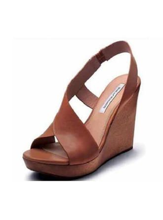 VERYVOGA Women's PU Wedge Heel Sandals Wedges With Buckle shoes