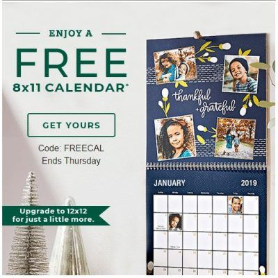 Free 8x11 Custom Calendar From Shutterfly Just Pay Shipping Ad