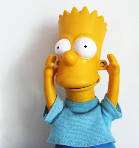 Vintage Bart Simpson Doll Official 1990 The Simpsons TV Show Plush Doll 90s Cartoon
