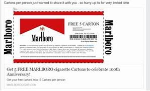 picture relating to Printable Marlboro Coupons identify Marlboro Totally free Reward 2019
