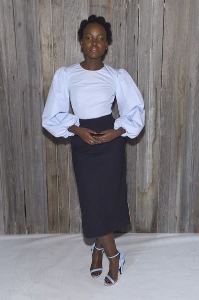 Actor Lupita Nyong'o attends the Calvin Klein Collection during New York Fashion Week.