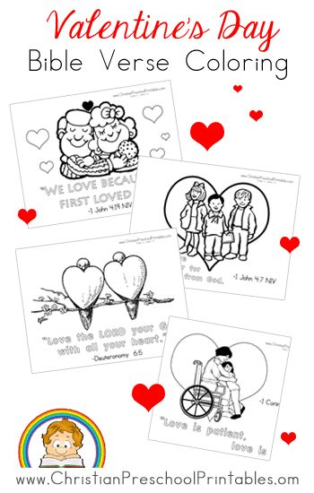 Christian Valentine's Day Coloring Pages More
