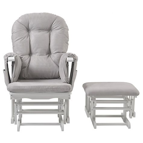 finest selection 7233d 8ab85 Kub Haywood Reclining Glider Nursing Chair and Footstool ...