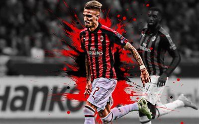 Download Wallpapers Samu Castillejo Ac Milan Spanish Football