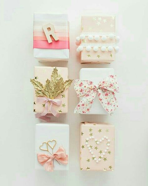 @i_is_for_idea  Embrulhos de presentes cor de rosa