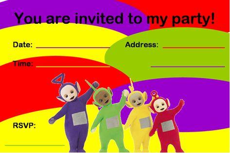 Teletubbies Invitations Birthday Party Invitationjpg