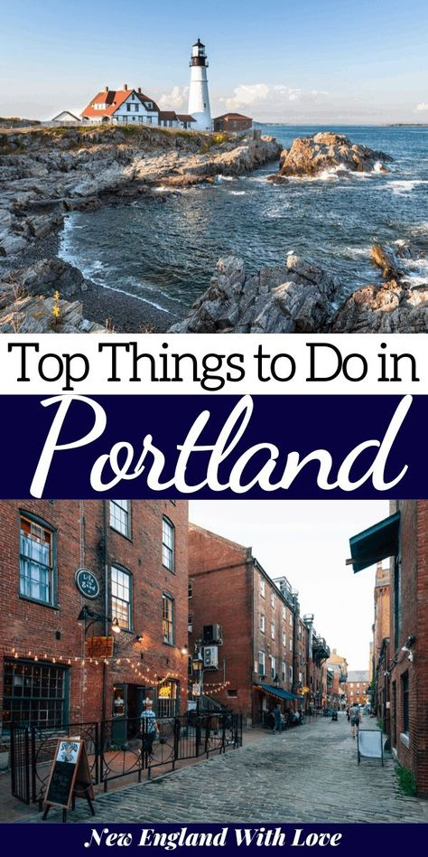 Looking to enjoy a weekend in Portland, Maine? This post is your complete guide to things to do, where to eat, & where to stay in Portland. Weekend In New England, Maine New England, New England Travel, Weekend In Portland, Portland Maine, Maine Road Trip, Maine In The Fall, Places To Travel, Places To Visit