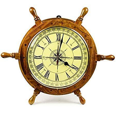 Nautical Wall Clocks Beachfront Decor Nautical Wall Clock Wall Clock Gift Clock