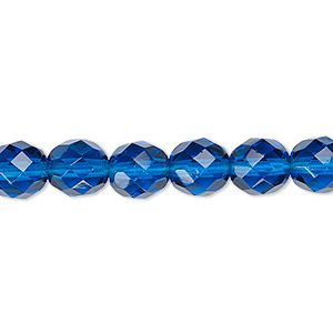 Aqua Blue AB 25 8mm Round Faceted Fire Polish Czech Glass Beads