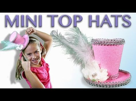 51e01aae0b4 How to make a Mini Top Hat with Headband! Simple tutorial.