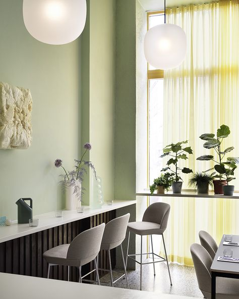 Combining modern, geometric lines with a contemporary expression and comfortably soft seat, the Oslo Counter  Bar Stool brings a refined perspective to the form through its playful lines and embracing back, joined by the comfort of its footrest, allowing its user to sit at multiple angles for many hours at a time. The Oslo Counter  Bar Stool adds an elegant touch to any space in a home, restaurant or workplace. #scandinaviandesign #homedecor #muutodesign