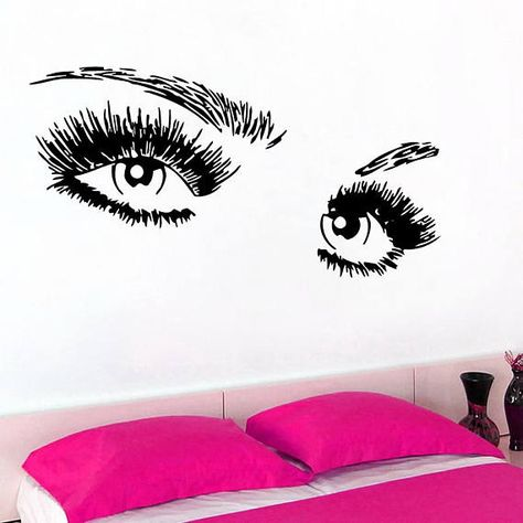 this perfect wall vinyl decal eyes will be a great addition to any