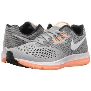 077545299ac3 Nike Air Zoom Winflo 4 (Wolf Grey White Anthracite Sunset Glow) Women s  Running Shoes
