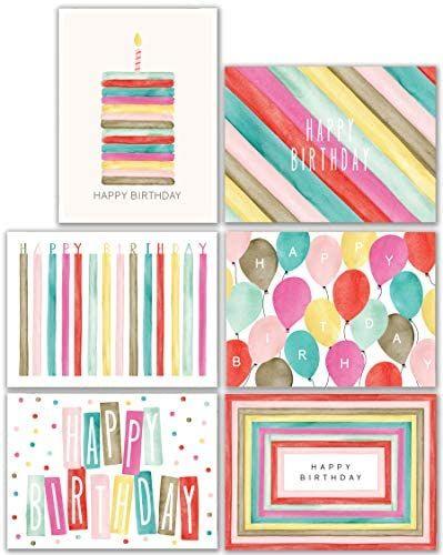 Watercolor Bulk Birthday Cards Assortment 48pc Bulk Happy Birthday Card With Envelopes Bo In 2020 Boxed Birthday Cards Blank Birthday Cards Watercolor Birthday Cards