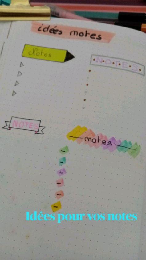 4 idées de notes