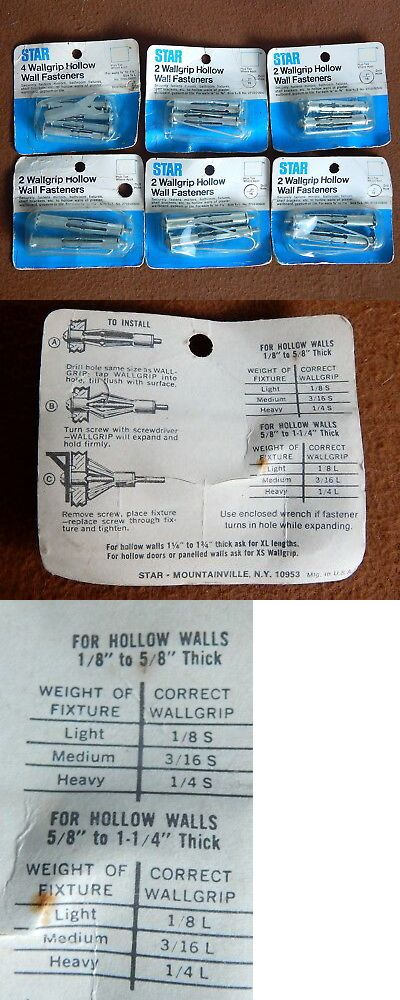 Anchors 83852 Star Wallgrip Hollow Wall Fasteners For Walls 1 8 To 1 1 4 New Old Stock Nos Buy It Now Only 14 95 On Ebay Anchors Ebay Wall S Fasteners