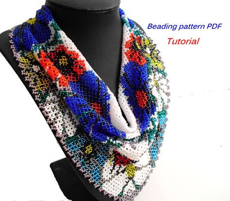 Beautiful Beaded Scarf Patterns and Tutorials by MLivista