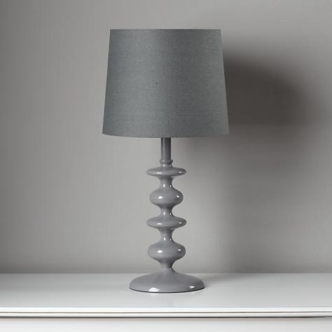 Checkmate Table Base (Grey) in Table Lamps | The Land of Nod