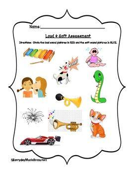 Loud Soft Dynamics Musical Assessment Worksheet Set Kindergarten Music Elementary Music Worksheets Music Worksheets