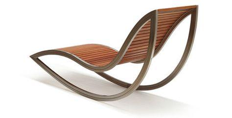 Chaise longue contemporaine / en bois / de jardin / écolabel ...