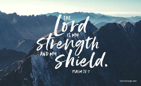 The Lord is my strength and my shield; my heart trusts in him, and he helps me. My heart leaps for joy, and with my song I praise him. Psalm 28:7 NIV