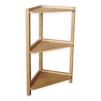 Bamboo 3 Tier Corner Shelf Shelves Bamboo Shelf Corner Shelves