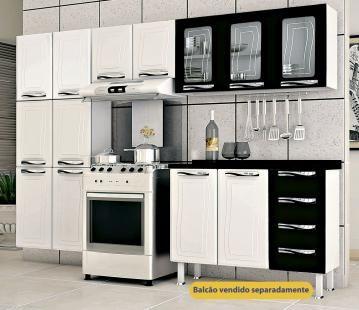 Cozinha Em Aco Colormaq Ipanema 3 Pecas Com 11 Portas E Armario