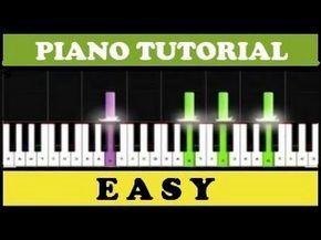 Tutorial en piano melodia para elisa facil de aprender ( explicado.