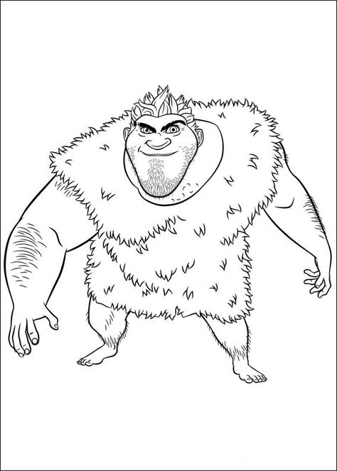 Croods Coloring Pages For Kids Printable Online Coloring 8 Coloring Pages The Croods