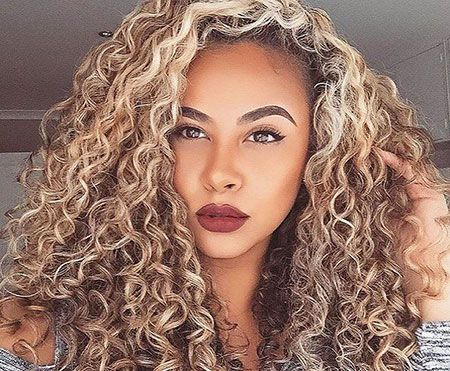23 Long Curly Blonde Hairstyles Curly Hair Styles Highlights