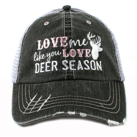 eafc5ff1dd8 Katydid Love Me Like You Love Deer Season Trucker Hat - 2 Color Choices