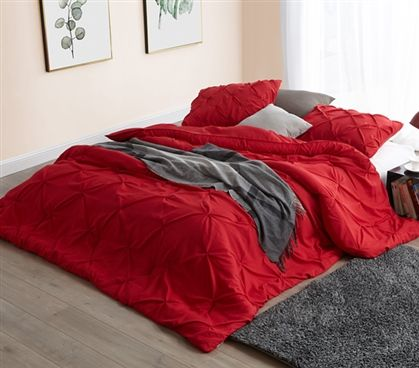 Comfortable Twin Xl Dorm Room Bedding Unique Cherry Red Pin Tuck College Comforter Twin Xl Bedding College Bedding Dorm Bedding