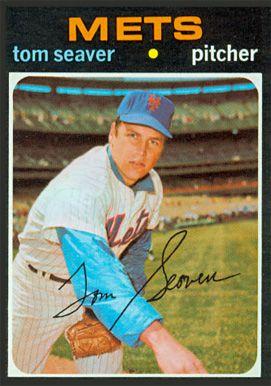 1971 Topps Tom Seaver 1971 Topps Baseball Cards Baseball