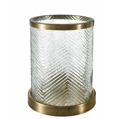 Eichholtz Round Glass Metal Hurricane Size 11 H X 9 W X 9 D Candle Holders Glass Candlesticks Lantern Candle Holders