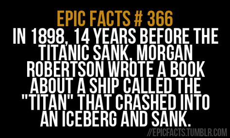 It doesn't end with the similarity of the ships' names. The sizes, circumstances, and even quotes people said about them were eerily similar!