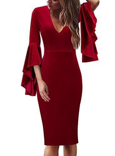 Christmas Dinner Dresses 2019.Top 15 Red Christmas Party Dresses Dresses Red Christmas